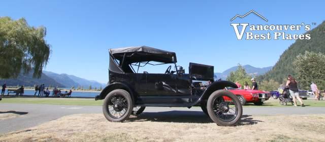 Black Antique Car at Harrison