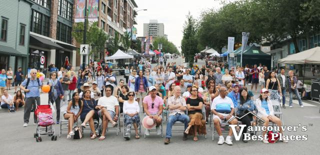 Concert Audience on Lonsdale Avenue