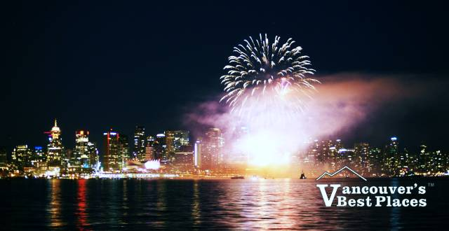 Canada Day Fireworks in Burrard Inlet