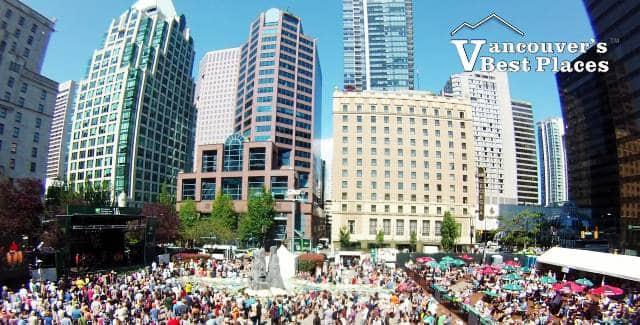 Jazz Festival Crowds Downtown