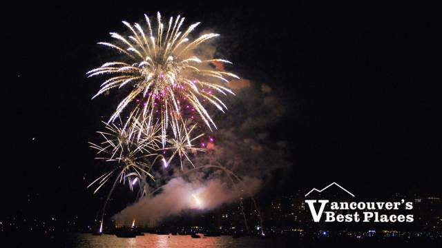 Fireworks Exploding from Kitsilano