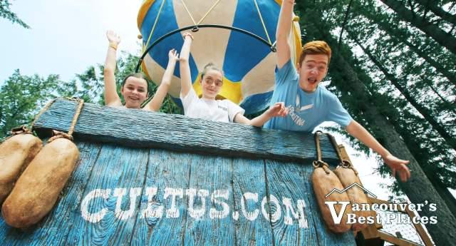 Kids in Cultus Lake Air Balloon