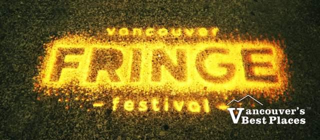 Fringe Festival Sign in Lights
