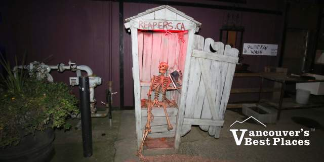 Outhouse Skeleton at Reapers