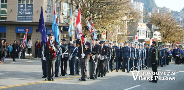 Remembrance Day Parade on Marine Drive