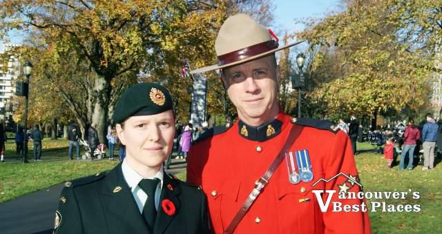 Remembrance Day Participants in Uniform