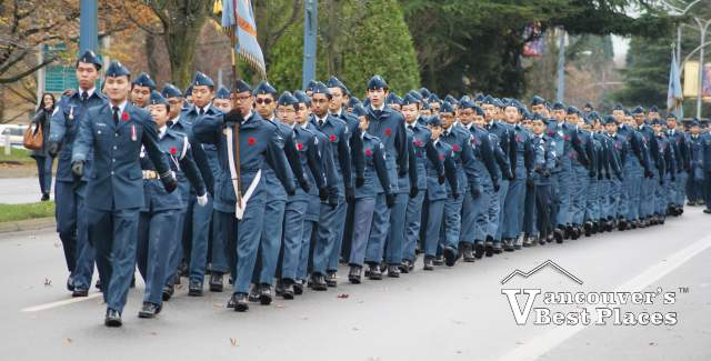 Cadets Marching on Remembrance Day