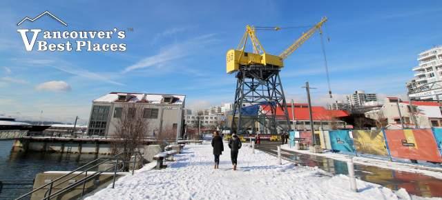 North Vancouver Shipyards in Snow