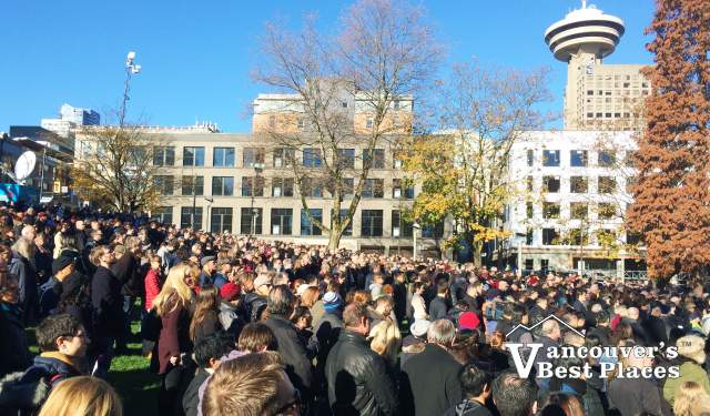 Remembrance Day Crowds at Victory Square
