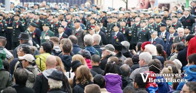 Richmond Remembrance Day Crowds