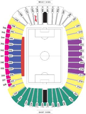 BC Place Whitecaps Seating Map