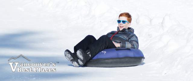 Boy Tubing at Cypress