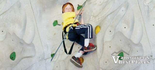 Looking Down from the Climbing Wall
