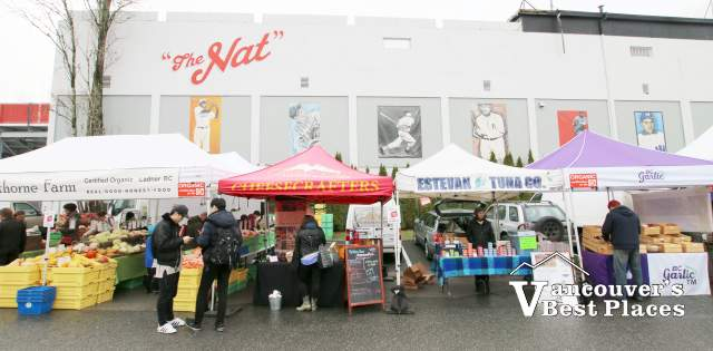 Farmers Market Stalls at the Nat