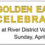 River District Golden Easter Celebration Banner