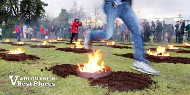 Persian Festival Fire Jumping