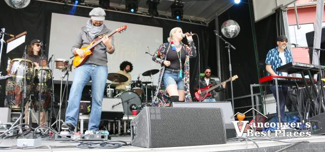 Coco Jafro on Stage in Concert