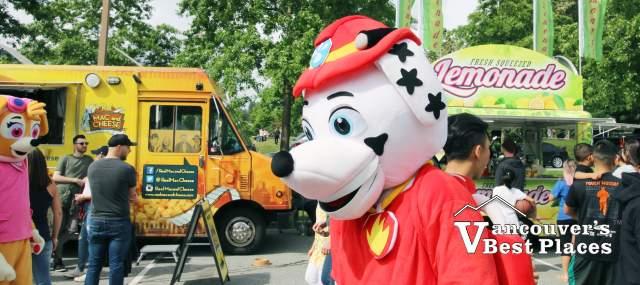 Paw Patrol at Food Truck Festival