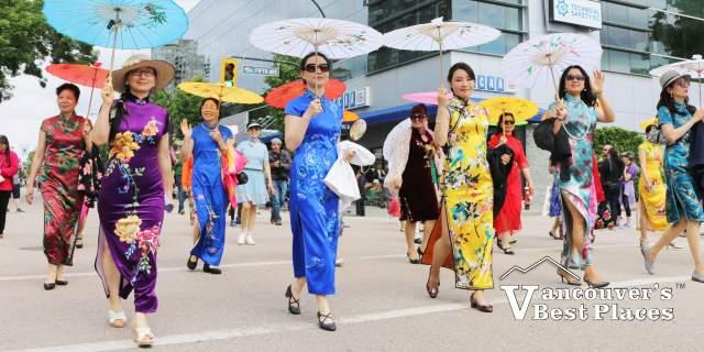 Ladies in Oriental Dress in Hyack Parade