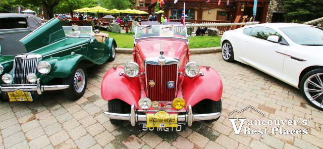 Vintage British Cars at Whistler