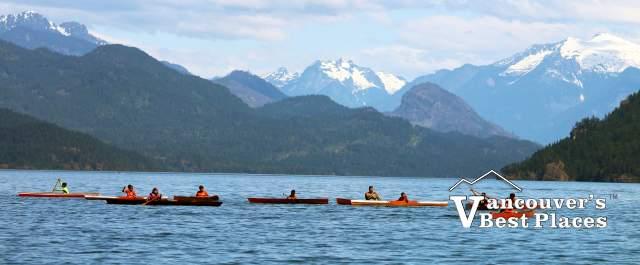 Canoe Races on Harrison Lake