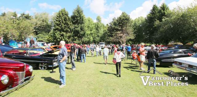 Car Fans at Steveston Sockeye Run Car Show