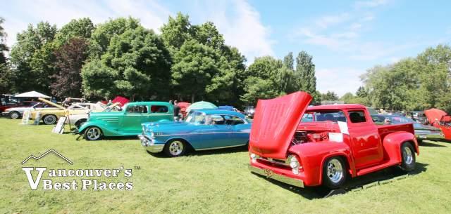 Cars on Display at Steveston Park