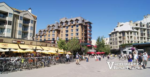 Plaza at Whistler Village in Summer