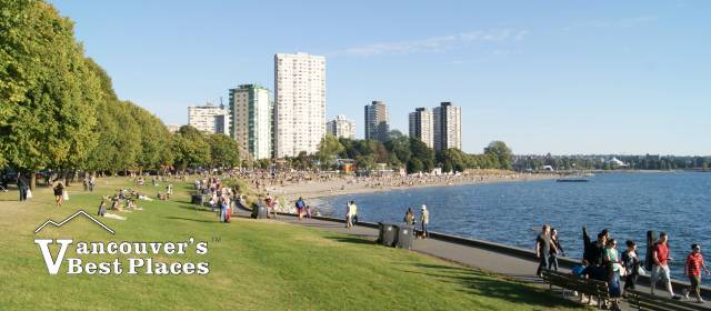Stanley Park Seawall at English Bay