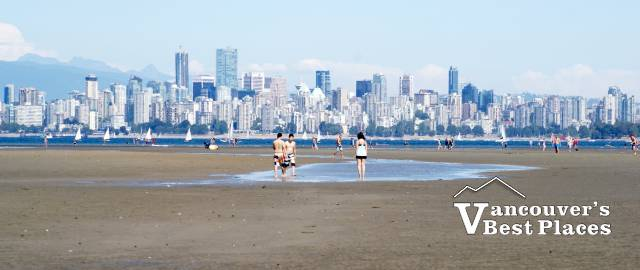 Vancouver from Spanish Banks at Low Tide