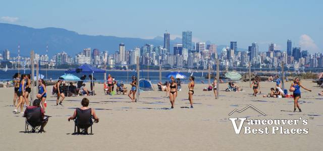Volleyball at Spanish Banks