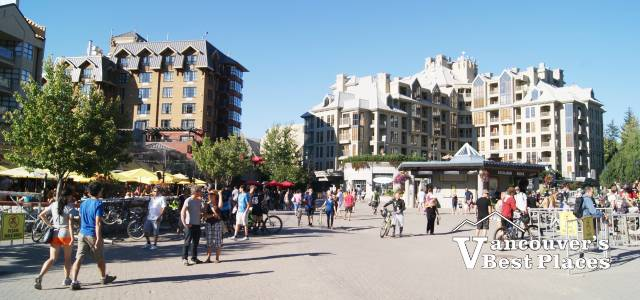 Whistler Village in the Plaza