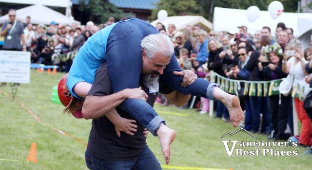 Wife Carrying at Scandanavian Festival