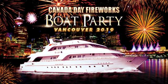 Canada Day Fireworks Party Boat
