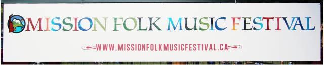 Mission Folk Music Festival Sign