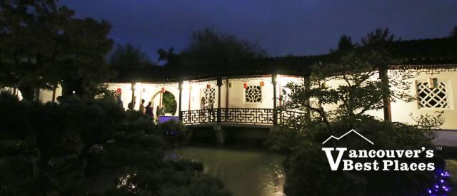 View through a gate at Sun Yat-Sen Garden
