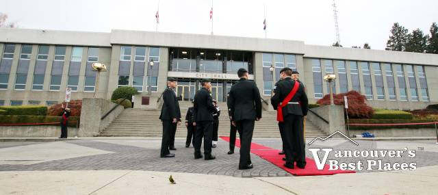 Remembrance Day at New West City Hall