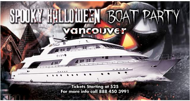 Spooky Halloween Boat Party Ad