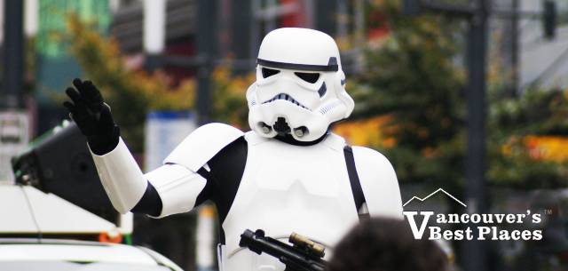 Stormtrooper Directing Traffic