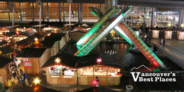 Christmas Market at Jack Poole Plaza