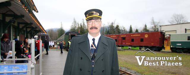 Polar Express Conductor at Squamish Railway Museum