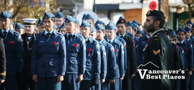 West Van Remembrance Day Cadets