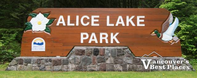 Alice Lake Park Sign