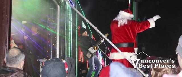 CP Holiday Train Santa and Band