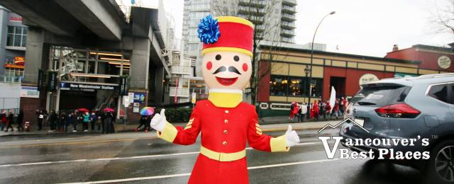 New Westminster Soldier Mascot in Parade