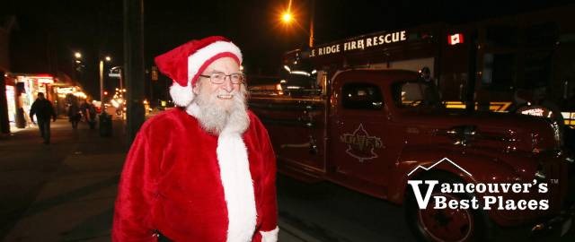 Santa at Maple Ridge Christmas Parade