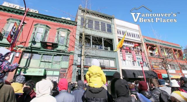 Chinatown Spectators at Chinese New Year Parade