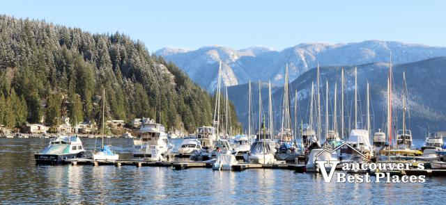 Deep Cove Marina in Winter