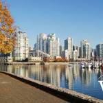 False Creek Seawall in Fall