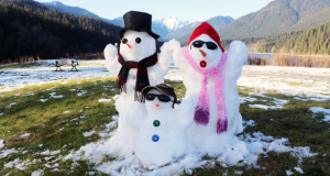 Family Day Snowmen in Vancouver